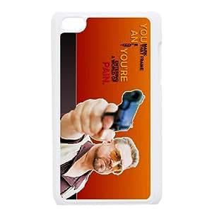 iPod Touch 4 Case White The Big Lebowski MCQ Hard Phone Case Plastic
