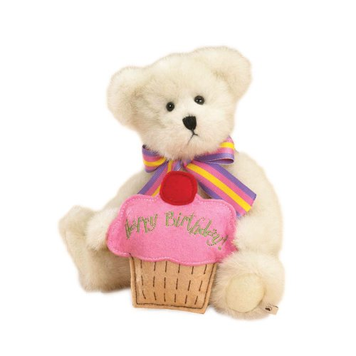 Birthday Message Bear (Boyd's Bears by Enesco Collectible  Lil' Cupcake Happy Birthday Plush Bear)