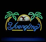 Yuengling Palm Tree Neon Sign 17''x14''Inches Bright Neon Light for Store Beer Bar Pub Garage Room