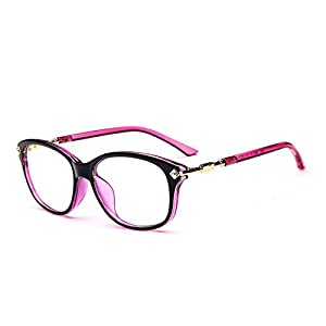 D.King Fashion Womens Cateye Prescription Rxable Eyeglasses Frames Purple