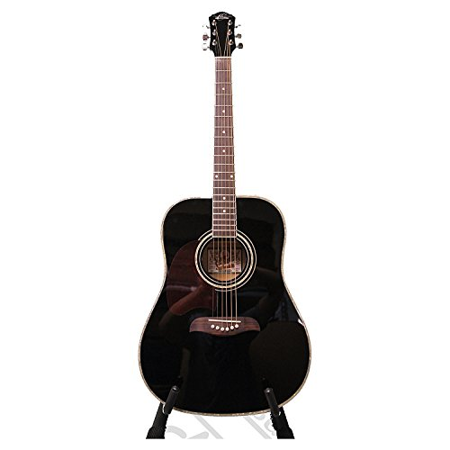 Oscar Schmidt 6 String OG2 Dreadnought Left Hand Acoustic Guitar-Natural, Right (OG2BLH-A)