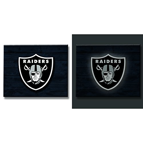 Team Sports America Oakland Raiders LED Metal Wall - Raiders Oakland Decorations Wall