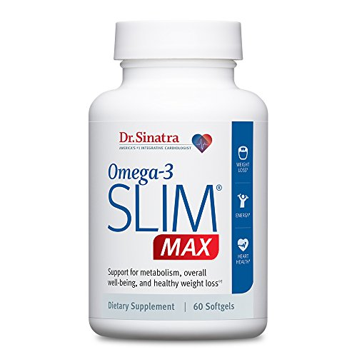 Dr. Sinatras Omega-3 Slim MAX Delivers Advanced, Heart Healthy Weight Loss Support Shed Pounds, to Slim Your Waist, and Reduce Stress-Induced Cravings, 60 Softgels (30-Day Supply)