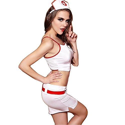 [Avide Sexy Women's Heart Breaker Nurse Costume] (Women's Plus Size Nurse Heartbreaker Costumes)