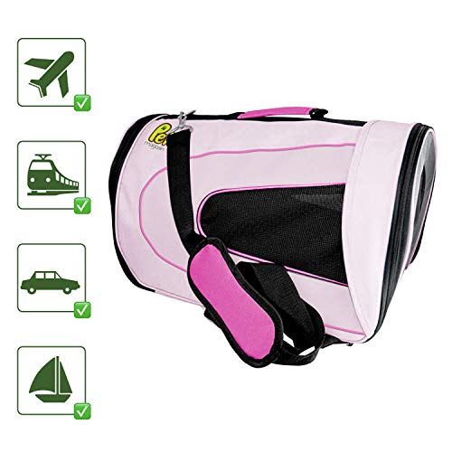 Pet Magasin Soft-Sided Pet Travel Carrier Cage for Small Pets, Pink