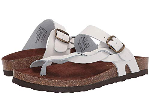WHITE MOUNTAIN Women's Honor White Leather 6 M US ()