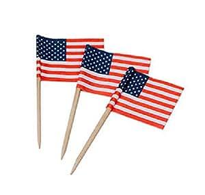 Darice 5300-99 100Piece, USA Flag Toothpicks