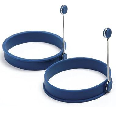 Norpro 994C Silicone Egg Pancake Ring Round, Blue