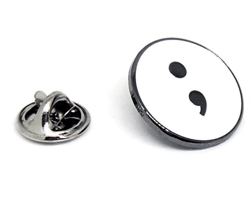 Semicolon Symbol Lapel Pin - Suicide Awareness Depression - Do Not Let Your Story End