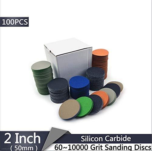 CHUNSHENN 100PCS 2インチ50ミリメートル60から10000グリットフロッキングサンディングディスクウェットとドライの防水紙やすり車のヘッドライトサンディングペーパー 研磨用 研磨工具