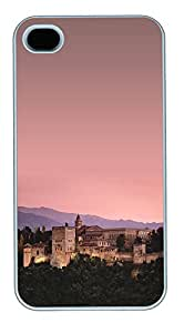 iPhone 4 4S Case Alhambra of Granada, Spain PC Custom iPhone 4 4S Case Cover White