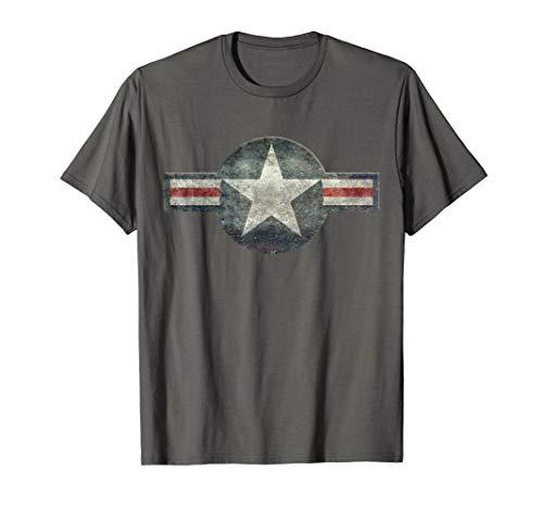 Vintage Retro USAF Style Star T-Shirt ()