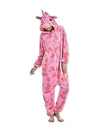 Yusongirl Adult Animal Pajamas Cosplay Costume Onesies Sleepwear Unisex (No Shoes)