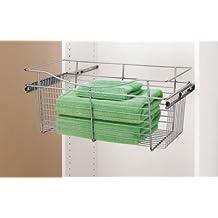 Rev A Shelf Rscb.241411Cr.5 24 In. W X 14 In. D X 11 In. H Wire Pull-Out Baskets - Chrome