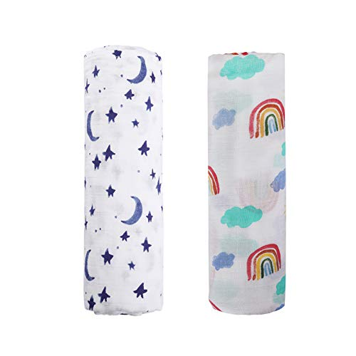 Baby Bamboo Muslin Swaddle Blanket - 2Pack 47
