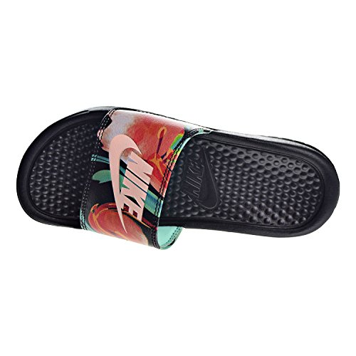 Benassi Chanclas Glow Black Mujer Nike green Tint Crimson g50Fxdx