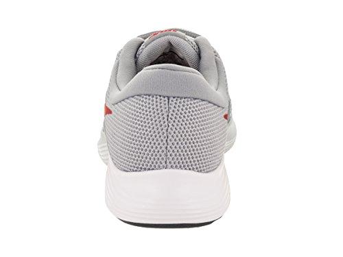 Nike Mens Revolution 4 Scarpe Da Corsa Grigio Lupo / Rosso Palestra / Invisibile / Bianco