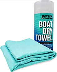 (Dry) - Ultra Absorbent Chamois Cloth Synthetic Shammy Towel for Car and Boat Marine Grade Drying and Cleaning