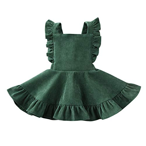 Tutu Dress For Toddlers (MERSARIPHY Toddler Tutu Dress Infant Sleeveless Vest Skirt Baby Backless Cute Romper for Girl Ruffle Skirt, Ages for 6Mos-5T (Green, 12-24)