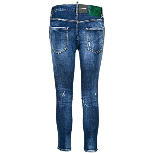 Cropped Jeans Girl Nuovi Dsquared2 Gamba Blu Donna Cool Dritta Originali 68SFqSHP