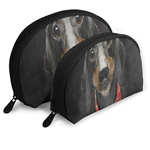 Makeup Bag Adorable Dachshund Puppy Dog Portable Shell Clutch Pouch For Girlfriend Halloween Gift Pack - 2 -