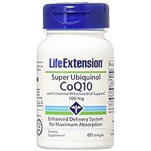 Life Extension Super Ubiquinol CoQ10 with Enhanced Mitochondrial, 100 Mg, Softgels, 60-Count