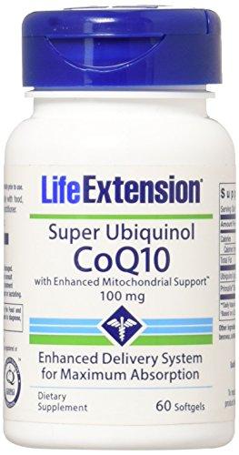 Life Extension Super Ubiquinol CoQ10 with Enhanced Mitochondrial Support 100 mg, 60 Softgels