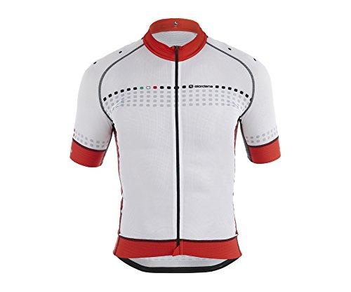 Giordana 2015 Men's FR-C Trade Forte Short Sleeve Cycling Jersey, White/Red, Medium