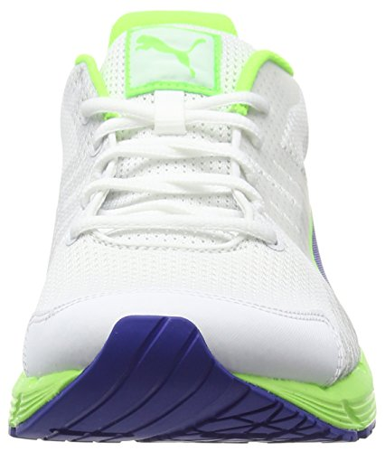 Puma Sequence V2 - Zapatillas de running Unisex adulto Multicolor - Multicolor (White/Surf The Web/Green Gecko)