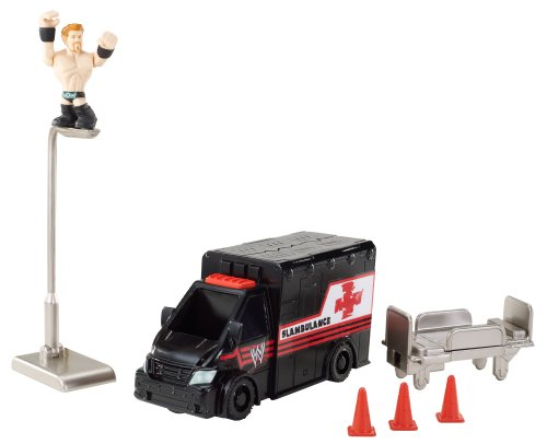 WWE Rumblers Slam-Bulance Slideout Playset by WWE