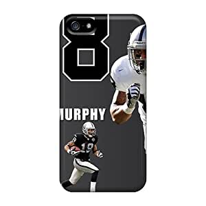LavernaCooney Iphone 5/5s Scratch Resistant Hard Phone Covers Provide Private Custom Realistic Oakland Raiders Skin [GvX5271ikYr]