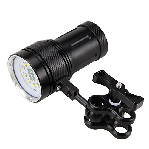 Diving Flashlight Han Shi 12000LM LED Photography Video Scuba Diving Flashlight Rechargeable Waterproof Underwater Torch Handheld Flashlight