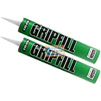 2 Tube Gripfill High Performance Green Adhesive Gap Fill - 350ML by Evo-Stik