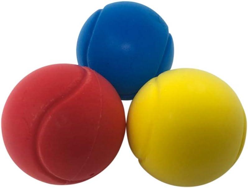 70mm Foam Sponge Soft Balls Throwing Catching Playballs Set of 3 Red,Blue,Yellow
