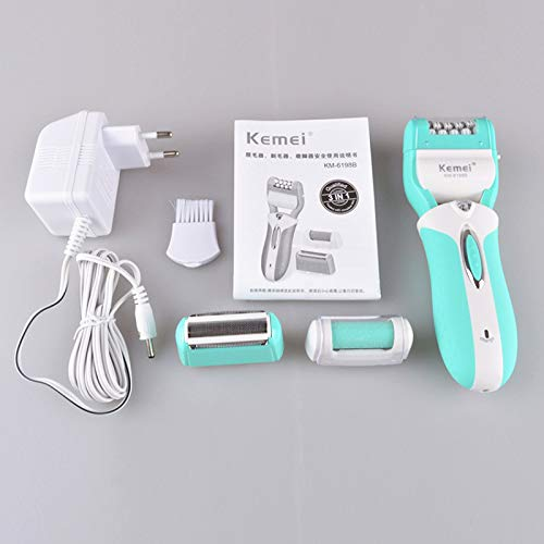 Lady Epilator 3 In 1 Rechargeable Women Electric Hair Removal Depilador Foot File Personal Care Electric Shaver Razor D40