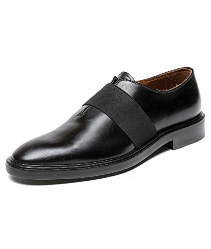 Givenchy-Mens-Elastic-Strap-Real-Leather-Derby-Shoes