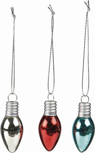 - Primitives By Kathy Set/6 Glass Lightbulb Ornaments 2