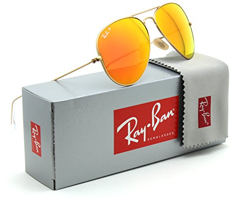 Ray-Ban RB3025 Aviator Flash Leneses Polarized Sunglasses 112/4D - - Mirrored Ray Aviators Ban Silver