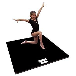 "4'x6'x2"" Dollamur Flexi Roll® Carpeted Cheer/Gymnastics Mat Black"