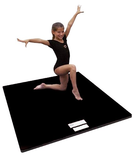 "4'x6'x2"" Dollamur Flexi Roll® Carpeted Cheer/Gymnastics Mat Black"