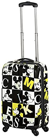 """Adults 22"""" Hardsided Spinner Suitcase Theme: Mickey in Blue/Green Squares"""