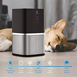 Airthereal ADH50B Air Purifier with 3 Filtration Stage True HEPA Filter for Small Room, Bedroom, and Office Whisper Quiet – Day Dawning