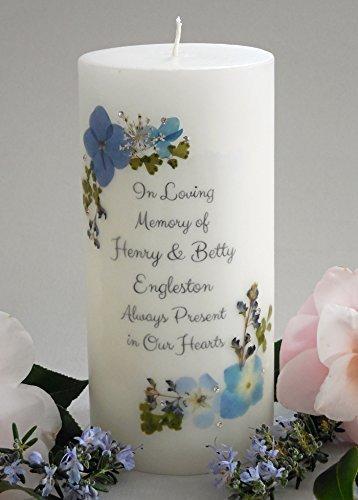 (Blue Bouquet Personalized 3x6 Memorial)