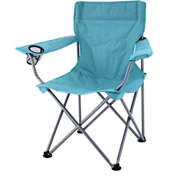 Ozark Trail Deluxe Folding Camping Arm Chair,Turquoise
