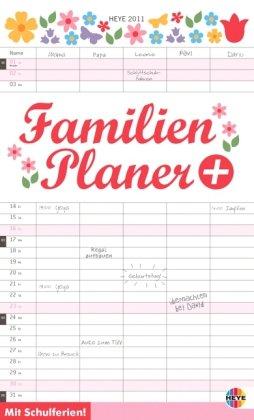 Familienplaner plus Tasche 2011: Mit Schulferien. 5 Spalten. Inklusive Stift und Tasche zur Aufbewahrung alltäglich wichtiger Dinge