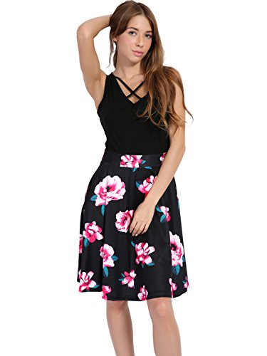 Womens Vintage V Neck Casual Dress Sleeveless Cross Front A-line Cocktail Party Midi Dress