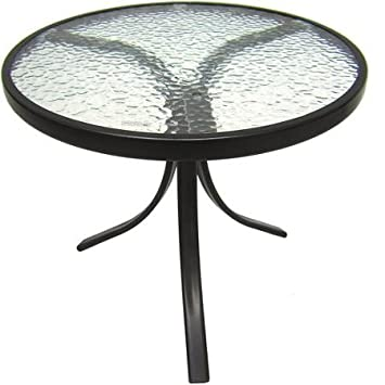 Delightful Mainstays Round Outdoor Glass Top Side Table