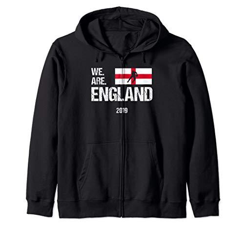 We Are England, World Rugby Team 2019 Zip Hoodie