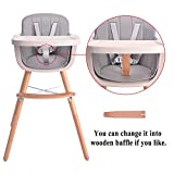 HAN-MM Baby High Chair with Removable Gray