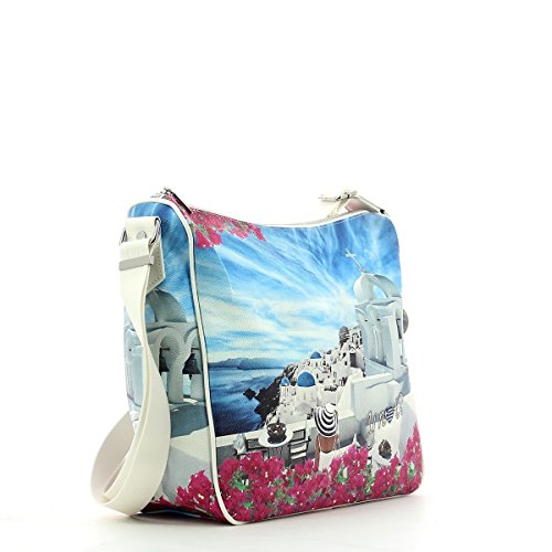 YNOT J-370, Borsa a Tracolla Donna, 12x25x30 cm (W x H x L) WHITE PARTY
